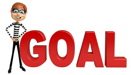 trespass: Thief with Goal sign