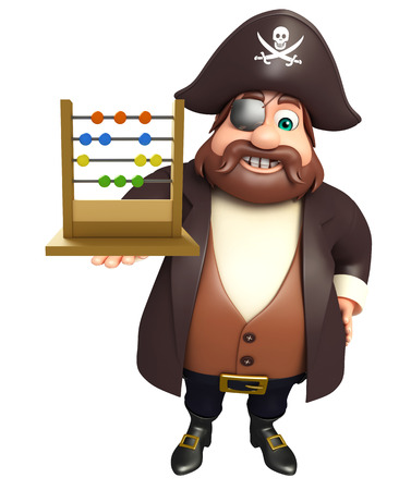 Pirate with Abacus slate