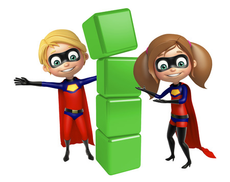 Superboy and Supergirl with Level