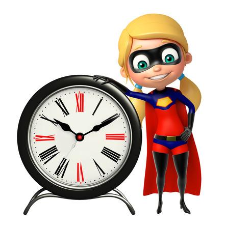 supergirl: supergirl with Clock