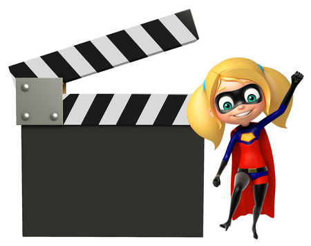 supergirl: supergirl with Clapper board