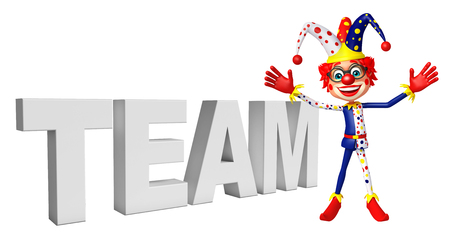 wig: Clown with team sign