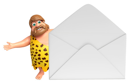 Caveman with Mail