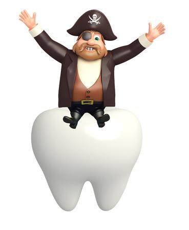 tricorne: Pirate with Teeth Stock Photo