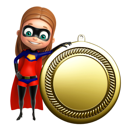 supergirl: supergirl with medal
