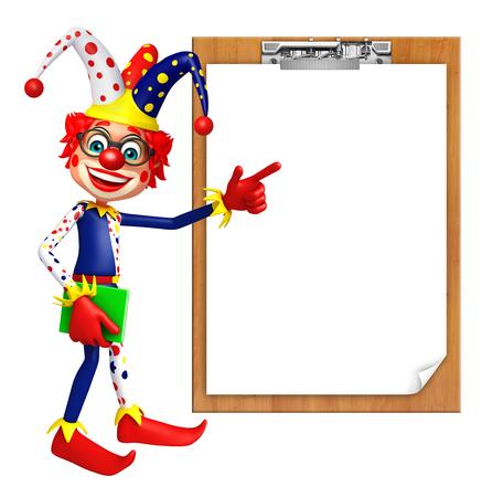 Clown with Exam pad Stock Photo