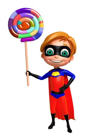 superboy: Superboy with Lollypop