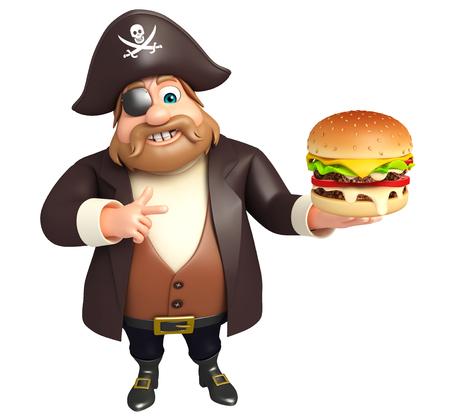 tricorne: Pirate with burger