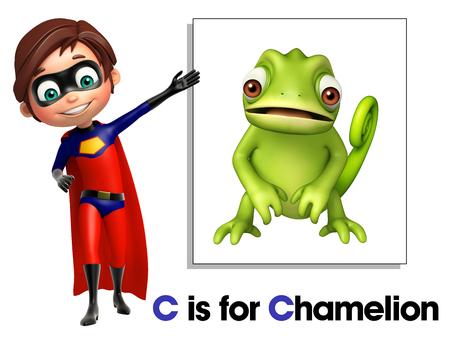chamelion: Super boy pointing Chamelion