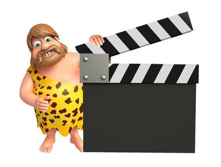 Caveman with Clapper board