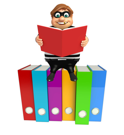 Thief with Files & book