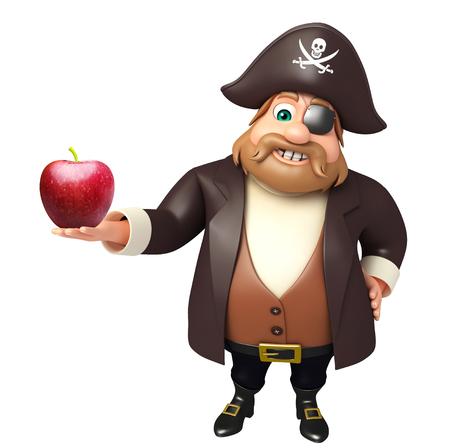 tricorne: Pirate with Apple Stock Photo