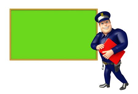 ブラック ボード ・本と警察