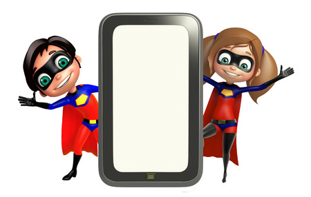 supergirl: Superboy and Supergirl with Mobile