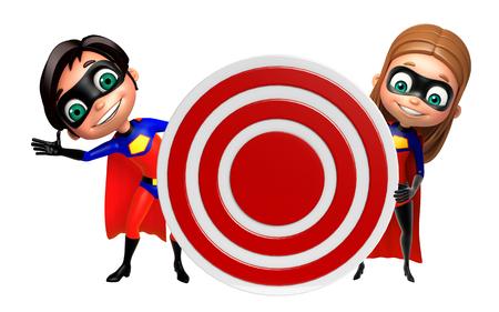 supergirl: Superboy and Supergirl with Target sign