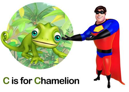 Super hero pointing Chamelion