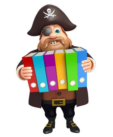 tricorne: Pirate with Files Stock Photo