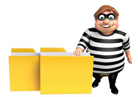 Thief with Folder