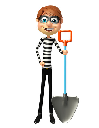 Thief with Digging shovel