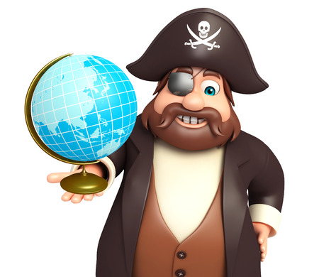 Pirate with Earth sign