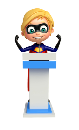superboy: Superboy with Speech stage Stock Photo