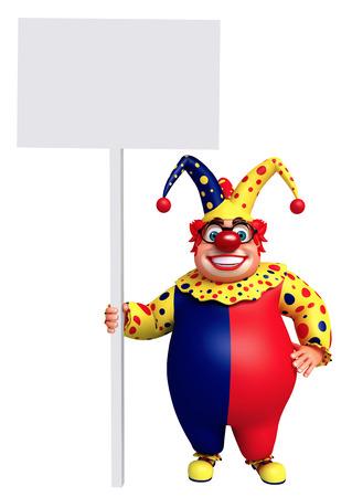 white board: Clown with White board