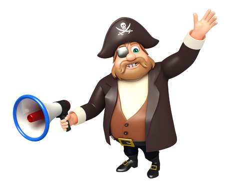 loud: Pirate with Loud speaker