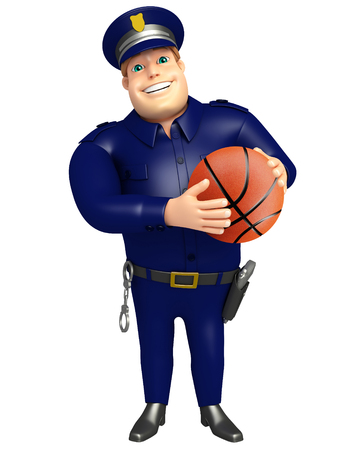 Police with Basket ball