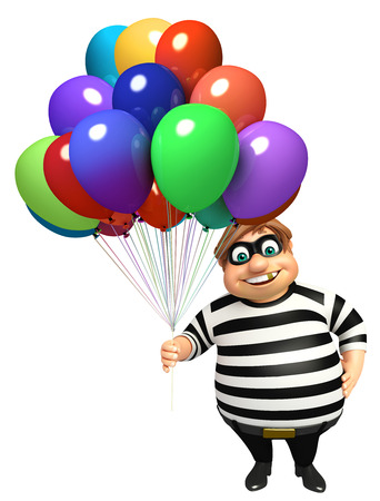 kidnapper: Thief with Balloon