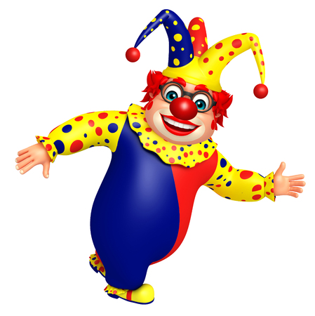 Clown with Running pose Stock Photo