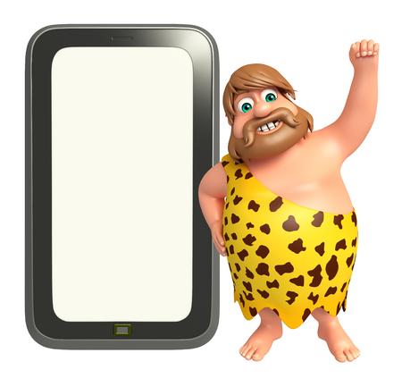 Caveman with Tab Stock Photo