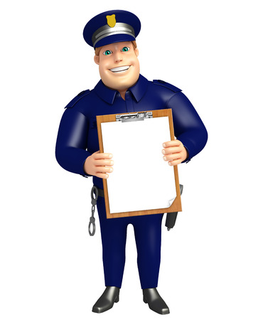 Police with Exam pad