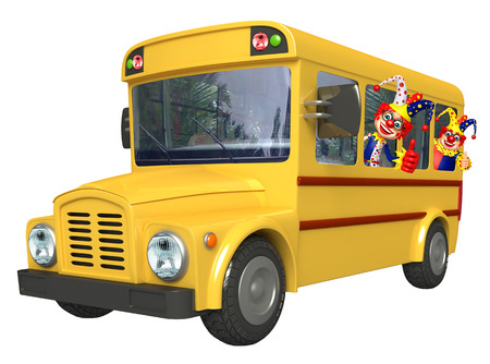 wig: Clown with School bus