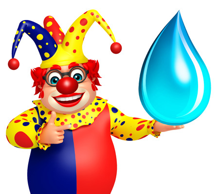 wig: Clown with Water drop