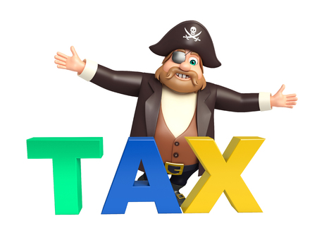 tricorne: Pirate with Tax sign