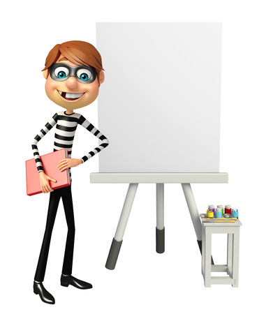 Thief with Easel board & book