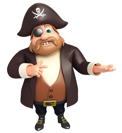 tricorne: 3d rendered illustration of pirate