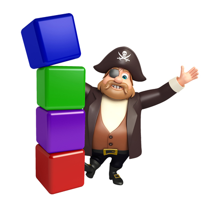 Pirate with Level Stock Photo