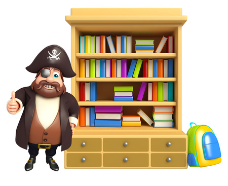 tricorne: Pirate with Book shelves