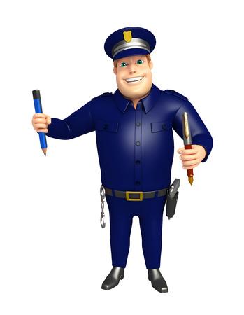 ペン ・鉛筆と警察