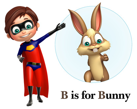 cape: Super boy pointing Bunny