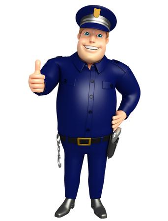 ポーズを親指で警察 写真素材