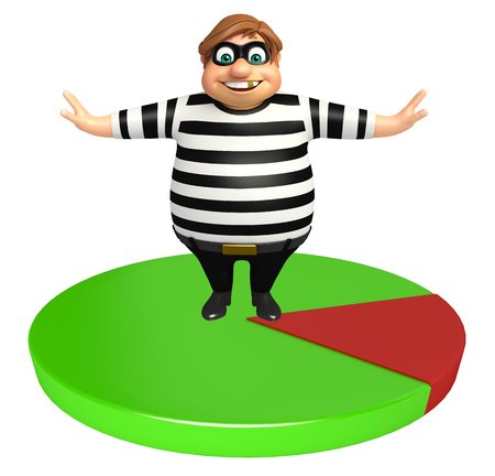 kidnapper: Thief with Circle sign Stock Photo