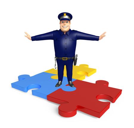 パズルの警察
