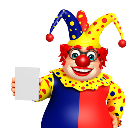 Clown with Hold pose Stock Photo