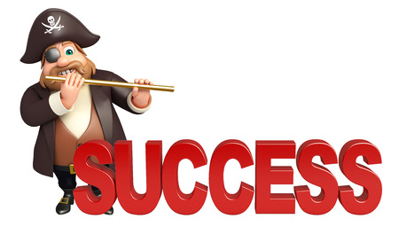 tricorne: Pirate with Success sign & flute