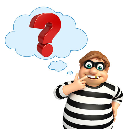 Thief with Question mark sign