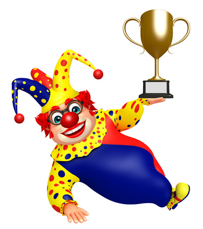 wig: Clown with Winning cup
