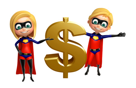 supergirl: Superboy and Supergirl with Dollar sign