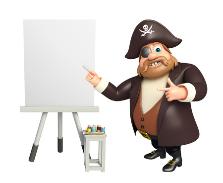 tricorne: Pirate with Easel board
